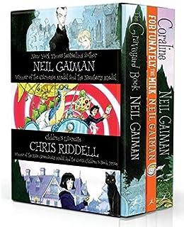 Fortunately, the Milk/The Graveyard Book/Coraline 三册盒装 英文原版爸爸去哪儿了?/坟场之书/鬼妈妈