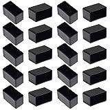 Get Bonsicoky 20Pcs Rectangle Rubber Furniture Leg Caps (3/4