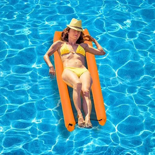 Opblaasbaar zwembad Aqua Lounger Pool Float, waterhangmat Drijvende fauteuil Opblaasbaar drijvend bed Zomer Buiten Oceaan meer voor volwassenen Kinderen (Aqua Lounger)