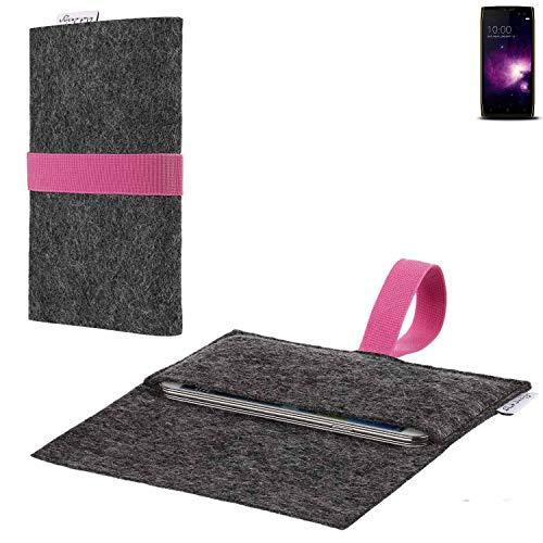 flat.design vegane Handy Hülle Aveiro für Doogee S50 passgenaue Filz Tasche Case Sleeve Made in Germany
