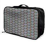 Qurbet Bolsas de Viaje, Travel Lightweight Waterproof Foldable Storage Carry Luggage Duffle Tote Bag - Novel Colorful Mexican Blanket Stripes