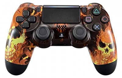 Fire Skulls PS4 PRO Rapid Fire Custom Modded Controller 40 Mods for All Major Shooter Games, Auto Aim, Quick Scope Sniper Breath and More (CUH-ZCT2U)