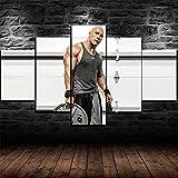 Murosn The Rock Dwayne Johnson Fitnessstudio Poster 5