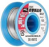 goot(グット) 鉛入りはんだ Φ1.2mm スズ60%/鉛40% 100gリール巻 ヤニ入り SE-06012