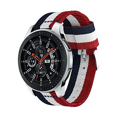 Preisvergleich Produktbild MuSheng For Samsung Galaxy Watch 46mm Armband Band, Fashion Sport Ersatz Sport Nylon Uhrenarmband Bügel für Samsung Galaxy Watch 46MM (B)