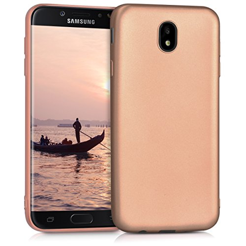 kwmobile Samsung Galaxy J7 (2017) DUOS Hülle - Handyhülle für Samsung Galaxy J7 (2017) DUOS - Handy Case in Metallic Rosegold