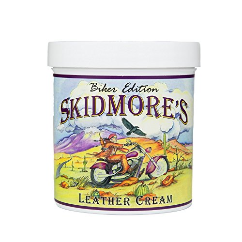 Skidmore's Biker Edition Leather Cream | All Natural Water Repellent Formula Cleans, Conditions, and Protects Your Motorcycle | Made in USA