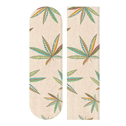MNSRUU Hanf Cannabis Leafs Skateboard Grip Tape Blatt Roller Deck Sandpapier 22,9 x 83,8 cm