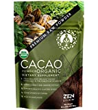 Cacao Powder Organic - 1 Pound - Unsweetened Premium Grade Superfood (Raw) - USDA & Vegan Certified...
