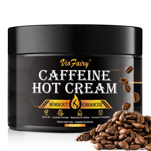 Caffeine Anti Cellulite Hot Cream, Body Sculpting Cellulite Workout Cream for Women & Men , Anti-Cellulite Remover Creams, Natural Sweat Workout Enhancer, Thighs Belly Butt Firming Legs Slimming Cream
