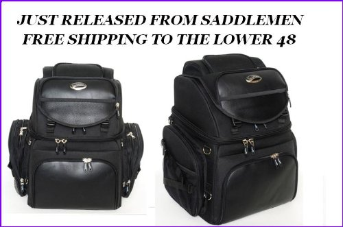 Saddlemen Grantour Back Seat Sissy Bar Bag 4 Harley