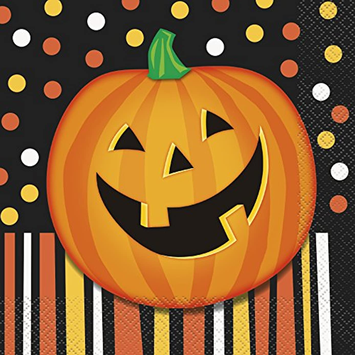 Smiling Pumpkin Halloween Party Napkins, 16ct
