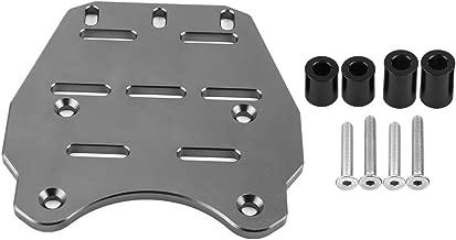 Cuque Rear Luggage Rack Motorcycle Accessories CNC Aluminum Alloy Cargo Holder Detachable Shelf Panel for Honda PCX 125 2014 2015 2016 2017(Titanium)