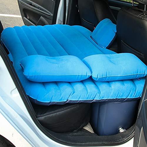 Hwjmy Colchón inflable de coche para acampar al aire libre, cama inflable para coche, accesorios de viaje, cama de viaje, cama inflable multifuncional para coche (nombre del color: azul)