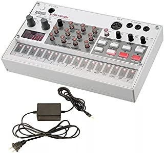 Korg Volca Sample Digital Sample Sequencer and Korg 9V600MACPP 9v 600ma Power Supply