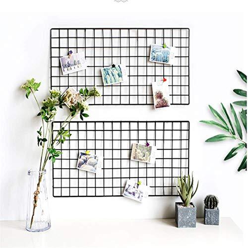 Grid fotowand set decoratie, gaaspaneel, zwarte coating, duurzaam, touwclip, eenvoudig te installeren, geschikt voor slaapzaal kantoor