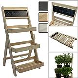 Escalera para flores de madera FSC® 74 x 39 x 40...