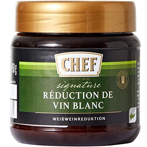 CHEF Signature Weißweinreduktion für eine authentische Weißwein Sauce, Pastös, 1er Pack (1 x 450g)
