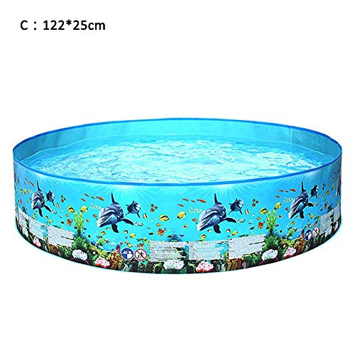 Ardentity Opblaasbare badkuip, onderwaterwereld, rond, opblaasbaar, voor familie, groot zwembad, voor de woonkamer, voor baby's, dubbele badkuip