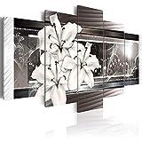 Mural de pared 5 piezas clásico simple lienzo pintura arte orquídeas flor carteles e impresiones flores modernas arte de pared para dormitorio decoración del hogar sin marco
