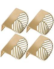 4 stks Keukenkast Deuren Handgrepen - Slaapkamer Lade Trekt Bladvorm Messing Gouden Kast Trekt Meubelgrepen Keuken Deurgreep Koper Lade Trek Knoppen