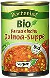 Leichte Suppe mit viel Quinoa und frischem Gemüse, ohne Fleisch. Schonende Verarbeitung für den besten Geschmack und die Erhaltung von Bissfestigkeit und wertvollen Inhaltsstoffen. Vegan, hefefrei, aus kontrolliert biologischem Anbau. Wir verzichten ...