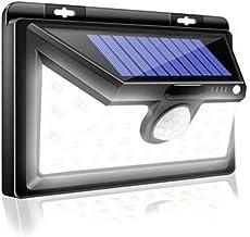 Mengjay 500lm buitenverlichting op zonne-energie, 1200 mAh, zwart, aluminiumlegering, 120 graden infrarood bewegingssenso...