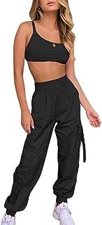 Yying Conjunto de Dos Piezas Sexy Crop Top+Pantalones Carga Trajes Streetwear Chándal Mujeres Ropa Verano Conjuntos a Juego