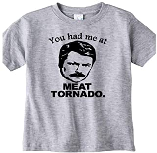 Ron Swanson Parks and Rec Meat Tornado Funny Toddler Youth T Shirt