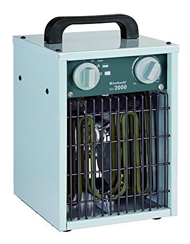 Einhell Elektro-Heizer EH 2000 (Axiallüfter bis 2000 Watt, stufenlos einstellbarer Thermostatregler, 3 Heizstufen, Überhitzungs- & Spritzwasserschutz)