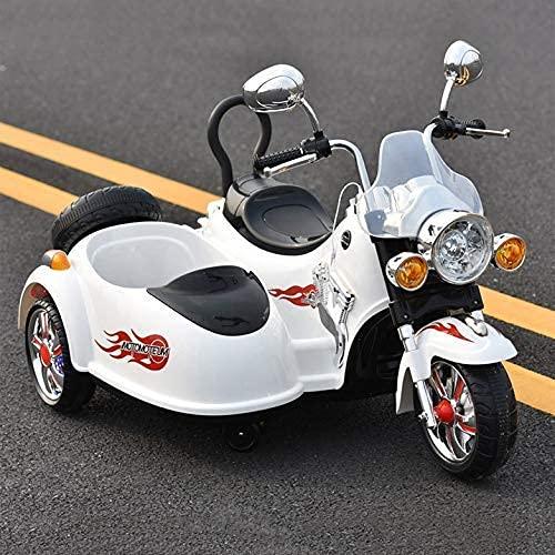 ZCYXQR Motocicleta eléctrica para niños, Triciclo de Dos Asientos, Coche de Juguete, con Capacidad para 2 Personas, con Control Remoto 38 años, s/cumpleaños (Regalos de cumpleaños y Vacaciones)