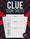 Clue Score Pads 140 Pages: Perfect Scorekeeping Gift For Cluedo Game Lovers | Detective Score Sheets For Players Secret Santa Idea