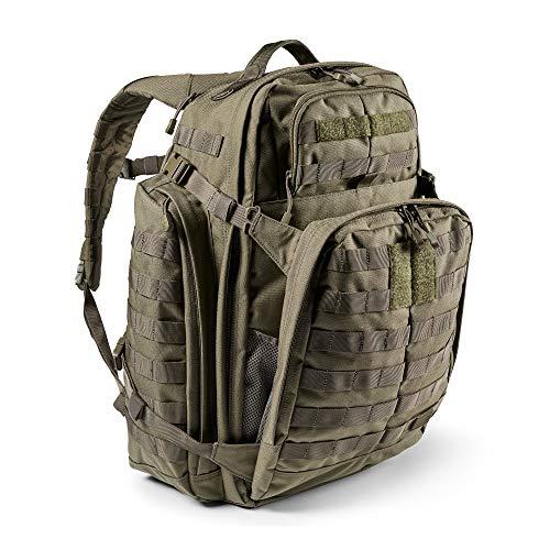 5.11 Mochila Táctica Rush 72 2.0 – Mochila Militar Molle, CCW Portación Oculta y Compartimento para Ordenador Portátil, 55 litros, Grande, Estilo 56565 – Color Verde Ranger