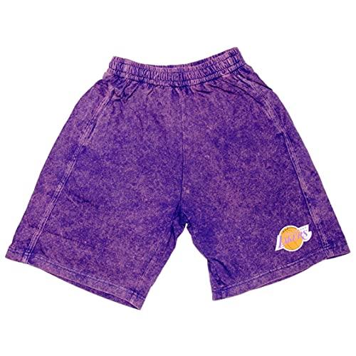 Mitchell & Ness Pantalones cortos Acid Wash de la NBA., La Lakers, L