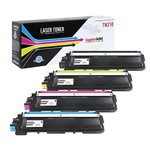 SuppliesOutlet Compatible With Brother TN210 Series Toner Cartridge Color Value Bundle - Black, Cyan, Yellow, Magenta - Compatible - For DCP-9010CN, HL-3040CN, HL-3045CN, HL-3070CW, HL-3075CW, MFC-9010CN, MFC-9120CN, MFC-9125CN, MFC-9320CN, MFC-9320CW, MFC-9325CW