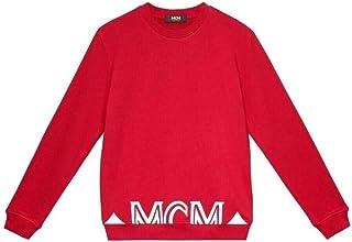 MCM Women's Red with White Logo Sweatshirt MFA9ADA74RU00