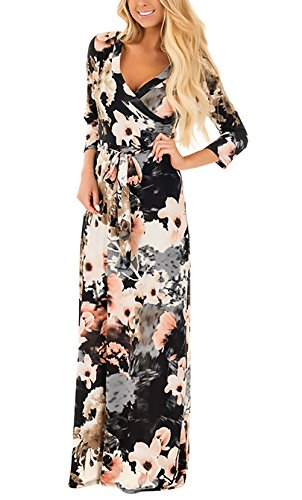 Mujer Vestidos Largos De Verano Casual Vintage Bohemio Florales Estamp