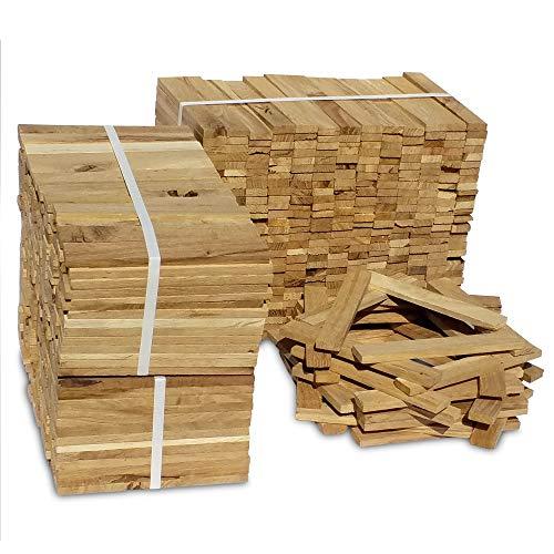 Premium Eiche Anmachholz – Besonders sauberes und trockenes Brenn-Holz – Ideales Anfeuerholz für eine kuschelige Raumwärme - Perfektes Zubehör um Brennholz im Kamin zu entfachen