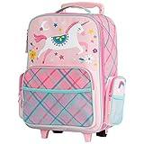 Stephen Joseph Kids Classic Rolling Luggage, Pink Unicorn, One Size