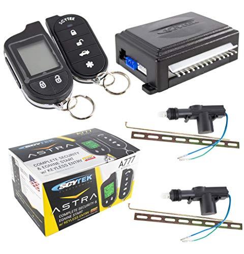Car Alarm Security System, Keyless Entry 2-Way LCD 2 Door Locks Scytek A777