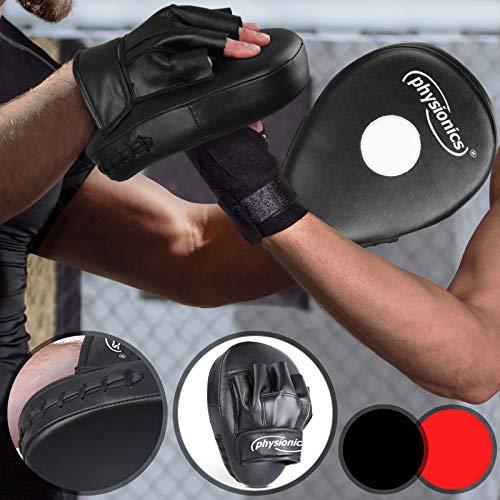 Physionics Handpratzen - 27/22 cm, Farbwahl, Einheitsgröße - Focus Pad, Schlagpolster, Schlagkissen, Handschuhe - für Box, Kickboxen, MMA, Taekwando, Kampfsport, Fitness, Sport, Training, Muay Thai