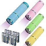 4 Stücke Ultraviolette Taschenlampe Mini UV Lampe LED Taschenlampe 395nm Ultraviolett Licht Urin Detektor für Unechte Banknoten Haustiere Urin Outdoor Camping Mit 12 AAA Batterien