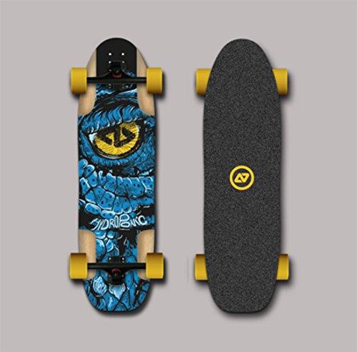 Hydroponic Longboard Skate Skateboard Complete Dragon Blue 35x9.88