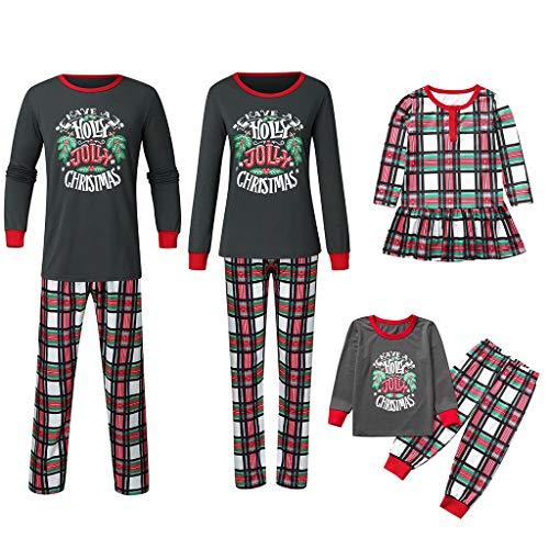 Noel Ensemble Pyjama Famille PèRe NoëL MèRe GarçOn Fille du Nouveau-Né BéBé Pyjamas à Deux PièCes Set Pull-Over à Manches Longues Top Et Pantalon VêTement De Nuit Sleepsuit