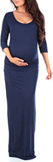 Women's Ruched Bodycon Maternity Dress in Regular and Plus Sizes