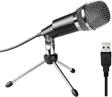 XIANGA Microfono Microfono USB, Plug & Play Home Studio Microfono a condensatore USB per, Registrazioni per Youtube, Google Ricerca vocale, Giochi - Trova i prezzi più bassi