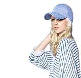 Gorra de béisbol vaquera de algodón, informal, ajustable, unisex, protección solar, para la playa, vacaciones, acampada, Light Blue-Denim