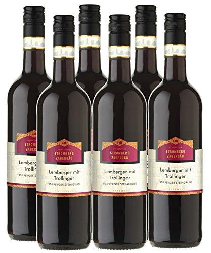 """Lemberger mit Trollinger""""Neipperger Steingrube"""" - Stromberg/Zabergäu - rot - halbtrocken - 12%vol. - 6er Paket"""