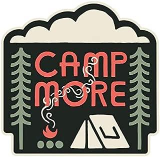 Sticker Art Camp More, Mountain Tough Outdoor Stickers, Waterproof Vinyl (4.5