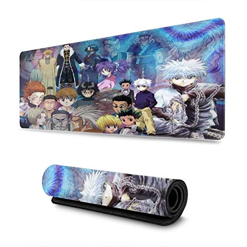 Hunter X Hunter Anime Mouse Pad Gaming Mouse Pad Large Mouse Mat, Non-Slip Rubber Base Mouse Keyboard Mat 11.8x31.5 Inch